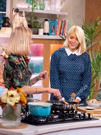 Holly Willoughby with Fearne Cotton