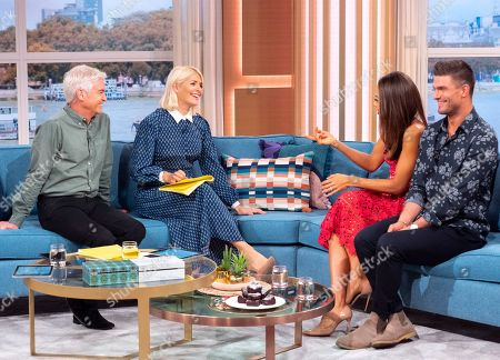 Phillip Schofield and Holly Willoughby with Emma Weymouth and Aljaz Skorjanec