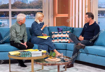 Phillip Schofield and Holly Willoughby with Rufus Sewell