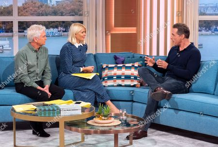 Stock Photo of Phillip Schofield and Holly Willoughby with Rufus Sewell