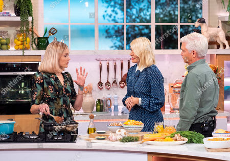 Phillip Schofield and Holly Willoughby with Fearne Cotton