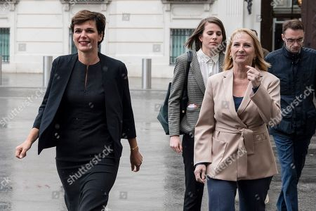 Pamela Rendi-Wagner (L), leader of Austrian Social Democratic Party (SPOe) and Doris Bures (R), second President of the Austrian Parliament, arrives ahead of a meeting with Austrian President Alexander Van der Bellen at the Presidential Office, part of the Hofburg Palace, in Vienna, Austria, 02 October 2019. The SPOe Party came second in the just concluded Austrian elections. A snap general election was called after secret recordings published in May of then-leader of the right-wing Austrian Freedom Party (FPOe) Heinz-Christian Strache led to the government's collapse.