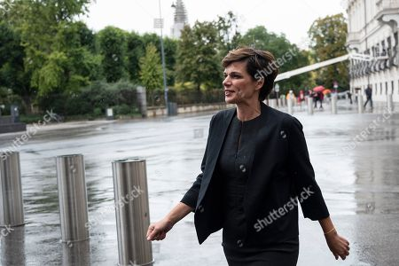Pamela Rendi-Wagner, leader of Austrian Social Democratic Party (SPOe) arrives ahead of a meeting with Austrian President Alexander Van der Bellen at the Presidential Office, part of the Hofburg Palace, in Vienna, Austria, 02 October 2019. The SPOe Party came second in the just concluded Austrian elections. A snap general election was called after secret recordings published in May of then-leader of the right-wing Austrian Freedom Party (FPOe) Heinz-Christian Strache led to the government's collapse.