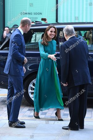 Stock Image of Prince William and Catherine Duchess of Cambridge are greeted by Prince Shah Karim Al Hussaini, Prince Karim Aga Khan during a visit to the Aga Khan Centre