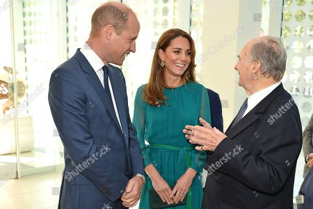 Prince William and Catherine Duchess of Cambridge meet with Prince Shah Karim Al Hussaini, Prince Karim Aga Khan