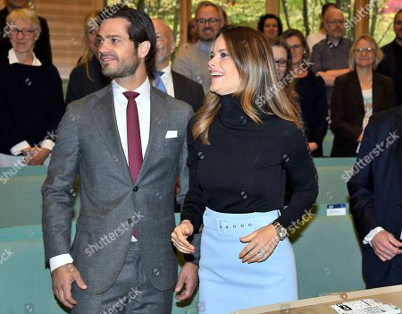 Prince Carl Philip and Princess Sofia of Sweden attend a dyslexia conference called 'Learn and Dyslexia'
