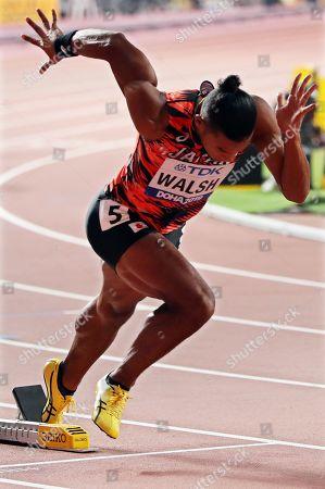 Julian Jrummi Walsh of Japan in action during the men's 400m semi finals at the IAAF World Athletics Championships 2019 at the Khalifa Stadium in Doha, Qatar, 02 October 2019.