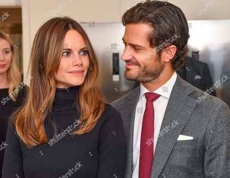 Princess Sofia of Sweden and Prince Carl Philip at the Brain Imaging Centre