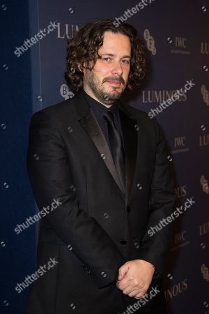 Edgar Wright poses for photographers upon arrival at the premiere of the film 'Judy' in central London, Tuesday, Oct.1, 2019