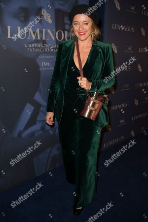 Alice Temperley poses for photographers upon arrival at the premiere of the film 'Judy' in central London, Tuesday, Oct.1, 2019