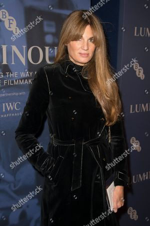 Jemima Goldsmith poses for photographers upon arrival at the premiere of the film 'Judy' in central London, Tuesday, Oct.1, 2019