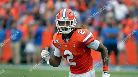 Florida defensive back Brad Stewart Jr. covers a play against Towson during the second half of an NCAA college football game, in Gainesville, Fla