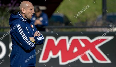 Jaap Stam, head coach of Feyenoord, attends a training session in Rotterdam, the Netherlands, 02 October 2019. Feyenoord will face FC Porto in their UEFA Europa League group G soccer match on 03 October 2019.