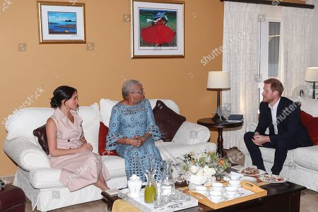 Editorial photo of Prince Harry and Meghan Duchess of Sussex visit to Africa - 02 Oct 2019