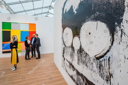 Groucho Homer by Joyce Pensato in the Lisson Gallery