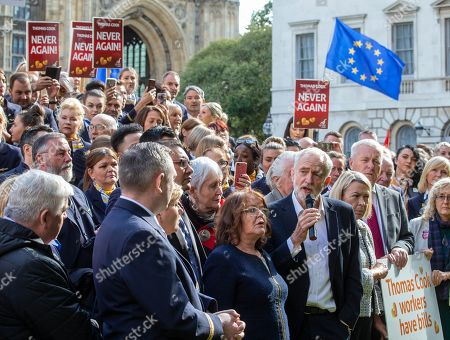 Editorial picture of Thomas Cook protest,  Westminster, London, UK - 02 Oct 2019