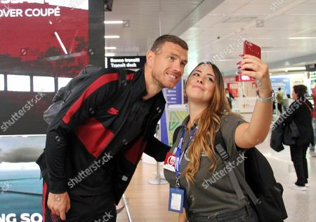 Editorial picture of AS Roma leaving for Austria, Fiumicino, Italy - 02 Oct 2019