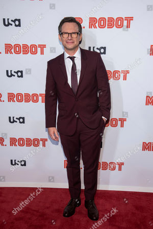 "Christian Slater attends USA Network's ""Mr. Robot"" season 4 premiere at the Village East Cinema, in New York"