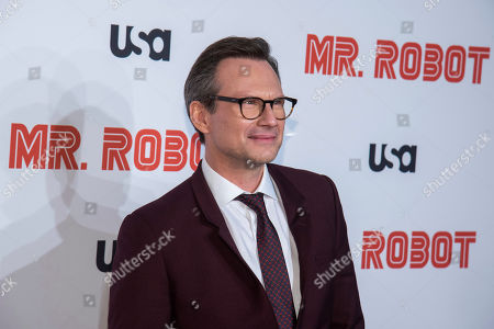 "Stock Picture of Christian Slater attends USA Network's ""Mr. Robot"" season 4 premiere at the Village East Cinema, in New York"