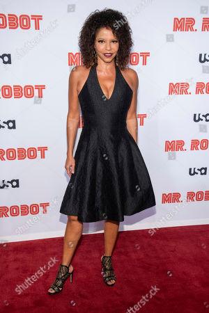 "Gloria Reuben attends USA Network's ""Mr. Robot"" season 4 premiere at the Village East Cinema, in New York"