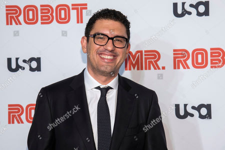 """Sam Esmail attends USA Network's """"Mr. Robot"""" season 4 premiere at the Village East Cinema, in New York"""