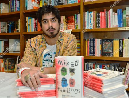 """Actor Avan Jogia poses for portrait after reading and sign copies of his poetry collection, """"Mixed Feelings: Poems & Stories"""""""