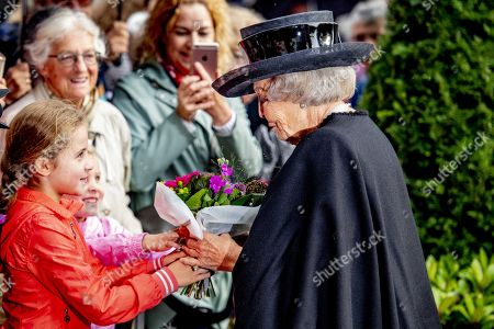 Dutch Princess Beatrix arrives at the town hall in Putten, the Netherlands, 02 October 2019, for the commemoration of the Putten raid. 75 years ago, hundreds of men were arrested by the German occupiers and taken to concentration camps.