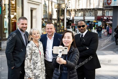Editorial picture of DiscoverLSQ roll out lookalike stars, London, UK - 02 Oct 2019