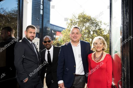 Stock Picture of Lookalikes with Tom Hanks, Will Smith, Helen Mirren and Tom Hardy make their way to Leicester Square