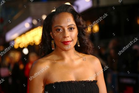 Rosalind Eleazar poses for photographers upon arrival at the opening gala of the London Film Festival and the premiere of the film 'The Personal History of David Copperfield' in central London