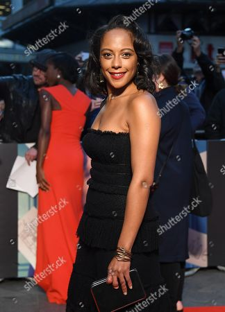 Rosalind Eleazar arrives for the European film premiere of The Personal History of David Copperfield at Leicester Square in London, Britain, 02 October 2019. The 2019 BFI London Film Festival runs from 02 to 13 October.