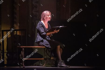 Niamh Cusack reads an extract at Alexandra Palace Theatre, ahead of the launch of Pullman's new novel, The Secret Commonwealth, published by Penguin Random House on 3rd October 2019.