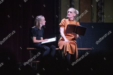 Anne-Marie Duff and Raffiella Chapman read an extract at Alexandra Palace Theatre, ahead of the launch of Pullman's new novel, The Secret Commonwealth, published by Penguin Random House on 3rd October 2019.