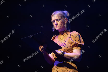 Anne-Marie Duff reads an extract at Alexandra Palace Theatre, ahead of the launch of Pullman's new novel, The Secret Commonwealth, published by Penguin Random House on 3rd October 2019.