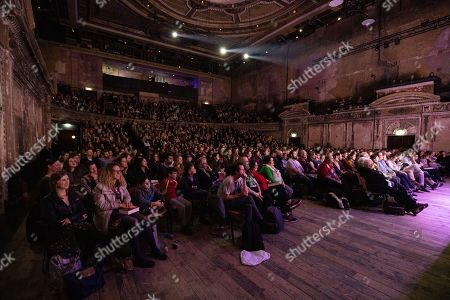 General view of the theatre and audience at Alexandra Palace Theatre, ahead of the launch of Pullman's new novel, The Secret Commonwealth, published by Penguin Random House on 3rd October 2019.