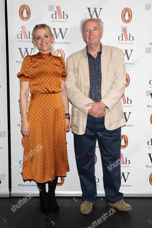 Best selling writer Sir Philip Pullman, pictured with actor Anne-Marie Duff at Alexandra Palace Theatre, ahead of the launch of Pullman's new novel, The Secret Commonwealth, published by Penguin Random House on 3rd October 2019.