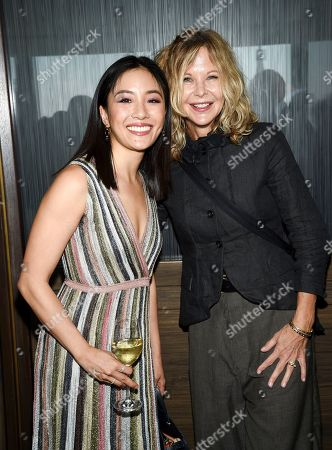 Constance Wu, Meg Ryan. Actors Constance Wu, left, and Meg Ryan attend the Academy of Motion Picture Arts and Sciences Women's Initiative New York luncheon at the Rainbow Room, in New York