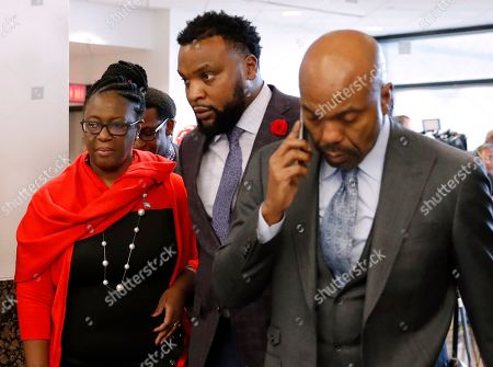 Allison Jean, Lee Merritt, Daryl Washington. Allison Jean, left, mother of Botham Jean, and attorneys Lee Merritt, center, and Daryl Washington, right, leave court as the jury begins deliberation on how to sentence former Dallas police officer Amber Guyger at Frank Crowley Court Building in Dallas