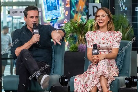 "Jon Hamm, Natalie Portman. Jon Hamm and Natalie Portman participate in the BUILD Speaker Series to discuss the film ""Lucy in th Sky"" at BUILD Studio, in New York"