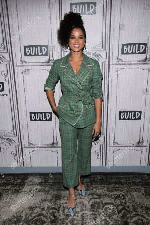 "Alisha Wainwright participates in the BUILD Speaker Series to discuss the television show ""Raising Dion"" at BUILD Studio, in New York"