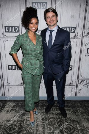 "Jason Ritter, Alisha Wainwright. Alisha Wainwright and Jason Ritter participate in the BUILD Speaker Series to discuss the television show ""Raising Dion"" at BUILD Studio, in New York"