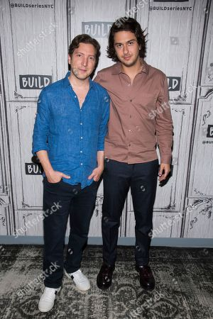 """Nat Wolff, Henry Alex Rubin. Henry Alex Rubin, left, and Nat Wolff participate in the BUILD Speaker Series to discuss the film """"Semper Fi"""" at BUILD Studio, in New York"""