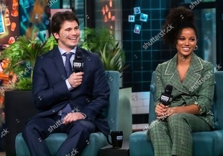 "Jason Ritter, Alisha Wainwright. Jason Ritter and Alisha Wainwright participate in the BUILD Speaker Series to discuss the television show ""Raising Dion"" at BUILD Studio, in New York"