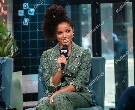 "Stock Photo of Alisha Wainwright participates in the BUILD Speaker Series to discuss the television show ""Raising Dion"" at BUILD Studio, in New York"