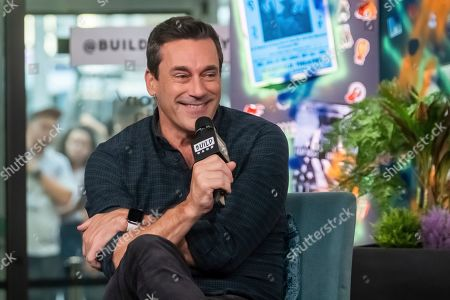 "Jon Hamm participates in the BUILD Speaker Series to discuss the film ""Lucy in th Sky"" at BUILD Studio, in New York"