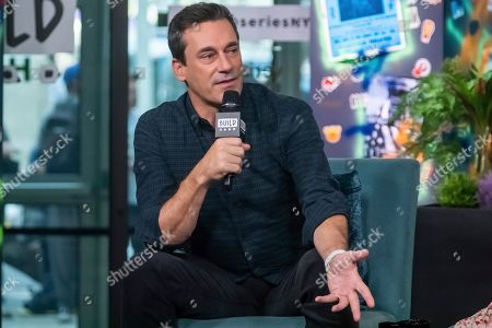 "Jon Hamm participates in the BUILD Speaker Series to discuss the film ""Lucy in the Sky"" at BUILD Studio, in New York"