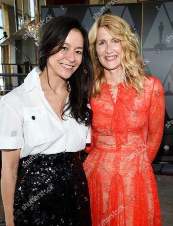 Elizabeth Chai Vasarhelyi, Laura Dern. Director-producer Elizabeth Chai Vasarhelyi, left, and actor Laura Dern attend the Academy of Motion Picture Arts and Sciences Women's Initiative New York luncheon at the Rainbow Room, in New York