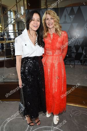 Elizabeth Chai Vasarhelyi, Laura Dern. Director-producer Elizabeth Chai Vasarhelyi, left, and actor Laura Dern pose together at the Academy of Motion Picture Arts and Sciences Women's Initiative New York luncheon at the Rainbow Room, in New York