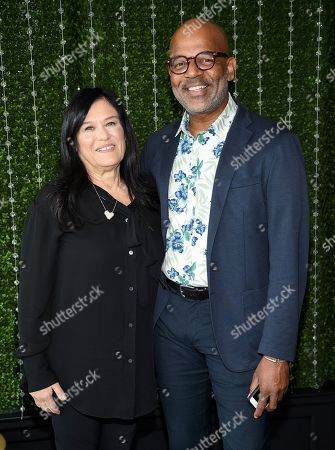 Barbara Kopple, Patrick Harrison. Producer Barbara Kopple, left, and AMPAS director of New York programs and membership Patrick Harrison attends the Academy of Motion Picture Arts and Sciences Women's Initiative New York luncheon at the Rainbow Room, in New York