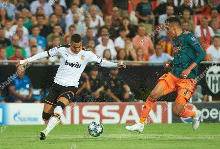 Rodrigo Moreno of Valencia and Edson Omar Alvarez of Ajax